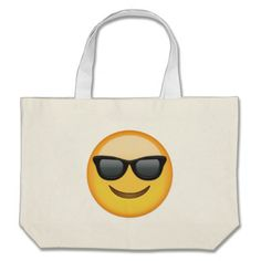 Smiling Face With Sunglasses Emoji Tote Bags