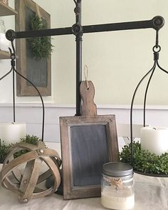 Don't you love how Shanna balanced our Scales? We do! Thx for sharing!  #homedecor
