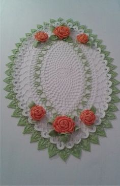 serweta szydełkowa z kwiatami  nr 43