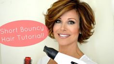 This is my tutorial for how I style my new short hair! I love a bouncy, texturized look and I use a couple of round brushes, velcro rollers, and my curling i...