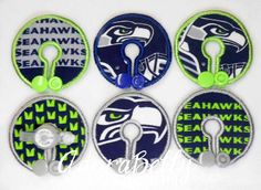 Seattle Seahawks Gtube Covers Gtube Pads Mic-Key Mickey Button NFL Football by AdorabellyDesign on Etsy