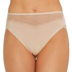 Vanity Fair Beautifully Smooth Lace High-Cut Panty 13230 - Women's
