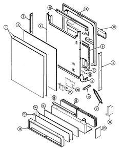 MAYTAG MAYTAG DISHWASHER Parts | Model DWU8330BAX | Sears PartsDirect