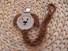 Crochet.. Puppy Paci.. Pacifier Clip by azsunshine on Etsy