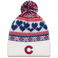 Chicago Cubs Junior Winter Cutie Pom Knit  #ChicagoCubs #Cubs #FlyTheW SportsWorldChicago.com