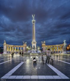 Heroes' Square at Budapest, Hungary