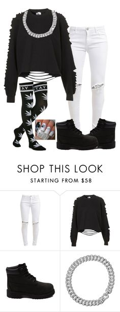 """""""Untitled #44"""" by mira-alsina ❤ liked on Polyvore featuring FiveUnits, The Ragged Priest, Timberland and David Yurman"""