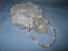 wunderschönes Armband Süsswasserperlen 3-farbig... von glastropfen´s Kreativwerkstatt auf DaWanda.com