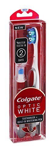 Teeth Whitening Kit   Colgate Optic White Toothbrush  BuiltIn Whitening Pen Med >>> Visit the image link more details. (It is Amazon affiliate link) #sf