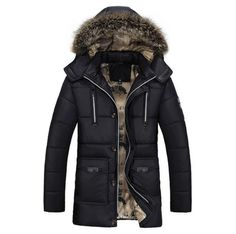 Cheap brand winter jacket men, Buy Quality winter brand jacket men directly from China winter jacket men Suppliers: Parkas Men Brand Clothing Fashion Winter Jacket Men Thermal Hooded Thicken Coat Casual Men Fur Hood Army Military Jacket Warm Mens Winter Parka, Winter Jackets, Parka Men, Mens Down Jacket, Jacket Men, Military Jacket, Hooded Jacket, Outfit Invierno, Winter Outfits Men