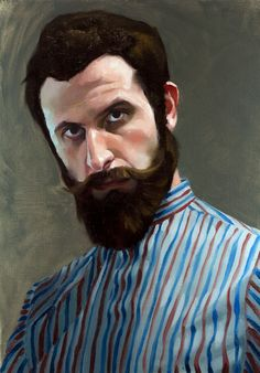"Elia Bonetti - Self portrait ""Alla prima"" oil on canvas board Beard Art, Canvas Board, Oil On Canvas, Tatoos, The Past, Sculptures, Portraits, Painters, Selfies"