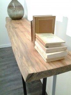 table salle à manger rolf métal et bois type industriel | consoles ... - Meubles Consoles Design