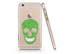 Skull Cannabis Weed Leaves Slim Iphone 6 6S Case, Clear Iphone 6 6S Hard Cover Case For Apple Iphone 6 /6S -Emerishop (VAE021.6sl) Emerishop