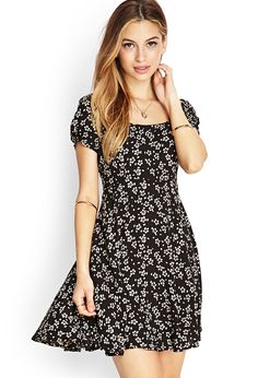 Floral Crossback Skater Dress | FOREVER21 #SummerForever