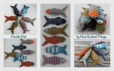 Fair Isle Fish by Hand Knitted Things on Flickr.Via Flickr: A Hand Knitted Things Design Available as a PDF Pattern
