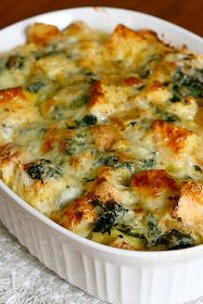*Riches to Rags* by Dori: Spinach and Cheese Strata