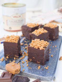Brownie de mascarpone y caramelo