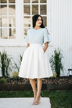 How To Dress Up Classy classy ladylike How To Dress Up Classy Classy Casual, Classy Dress, Classy Outfits, Classy Style, Classy Chic, White Skirt Outfits, Wardrobe Makeover, French Girl Style, Looks Style