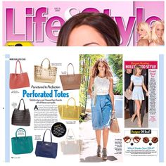 Getting lots of love from @lifeandstyleweekly ❤️ Perforated totes are all the rage! Pick ours up at @nordstrom !  #povertyflats #nordstrom #lifeandstyleweekly