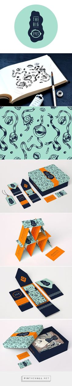 THEBIGEYES on Behance... - a grouped images picture - Pin Them All #businesscards