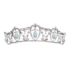 Opal and Diamond Tiara (Unknown) ❤ liked on Polyvore featuring accessories, hair accessories, tiaras, crowns, jewelry, tiara crown, diamond tiara, crown tiara and diamond hair accessories