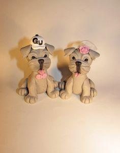 Custom Cake Topper, Dog, Pet, English Bulldog, Wedding Cake Topper, Animal Topper, Personalized, Figurine