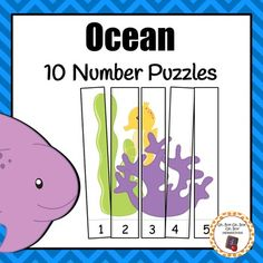 Discover the mysteries of the ocean! Add these fun ocean number puzzles to your preschool math center during your ocean unit. Ocean Activities, Number Activities, Motor Activities, Kindergarten Homeschool Curriculum, Kindergarten Classroom, Preschool Puzzles, Maths Area, Ocean Unit, Number Puzzles