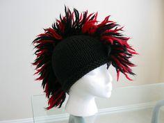 crochet mohawk hat