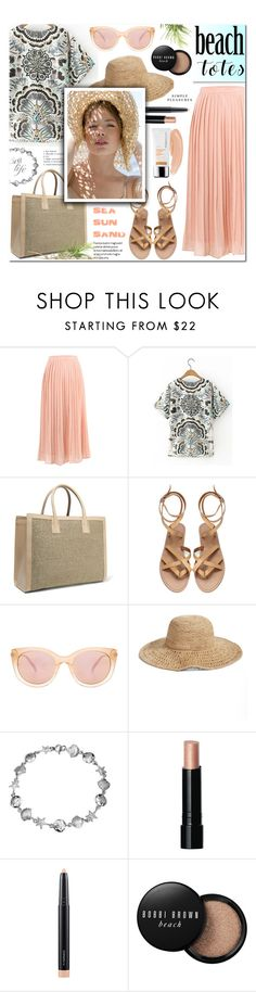 """""""In the Bag: Beach Totes-Yoins 13"""" by anyasdesigns ❤ liked on Polyvore featuring AERIN, Seafolly, Nordstrom, Bling Jewelry, Bobbi Brown Cosmetics, MAC Cosmetics and Dr. Dennis Gross Skincare"""