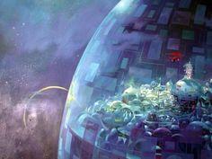 Space Fantasy, Sci Fi Fantasy, A Utopia, Geek Cave, Technology Magazines, 70s Sci Fi Art, Computer Art, Futuristic Design, Science Fiction Art
