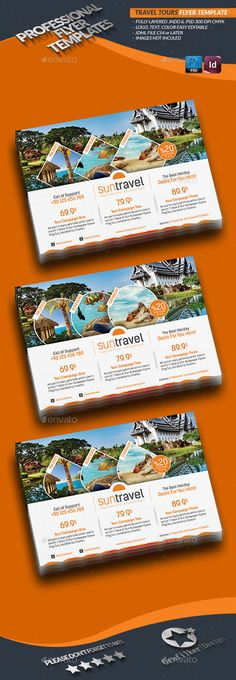 Travel Tours Flyer Templates - Corporate Flyers Download here: https://graphicriver.net/item/travel-tours-flyer-template/4422587?ref=classicdesignp