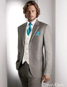 Teal is very in! TEAL-GROOMSMEN-ATTIRE-c.jpg (300×387). This groom (or groomsman) is very in, too! (in my book anyway!)