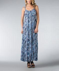 Look at this #zulilyfind! Navy Ripple Cascade Maxi Dress - Women #zulilyfinds