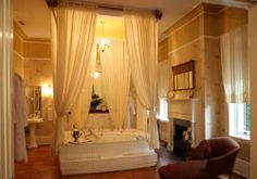 The Gastonian Savannah, GA ~ The bathroom in our honeymoon suite :)