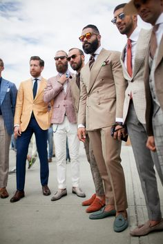 On the streets of Florence at the Pitti Uomo show. [Photo: Kuba Dabrowski] #menswear #mensfashion #style #streetwear #suit #malemodel #mensstyle #mensapparel #dapper #ootd #outfit #gentleman #classy