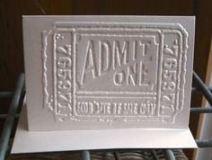 Pack of 3 cards - Vintage movie ticket  ON SALE!