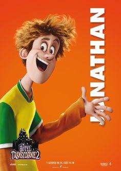 Hotel transylvania 2 character posters   tags : jonathan , 3d animation sony boy