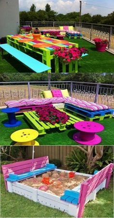 Outdoor Garden Furniture - Different Colors - Having an enjoying time with your family and friends is inestimable. A short picnic in your outdoor garden can do the miracles. It is the lone natural part of your home; so, it needs natural or semi natural furniture with a regular and careful attention to be an ideal place. After a long... - Color - colors, Furniture, Outdoor