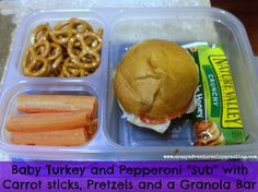 """Shop the """"day-old"""" racks at your grocery stores to stock up on rolls and breads for cheap school lunches. More awesome school lunch ideas found here!"""