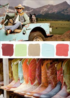 Southwest colours- or Colorado! These colors speak to me - must keep them in mind for my bedroom redo!