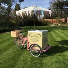 Pink and cream icecream tricycle from Living the Cream