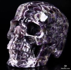 Amethyst Crystal Skull Sculpture.Great choice for the collection. This one needs to be sitting in a addiction recovery center !