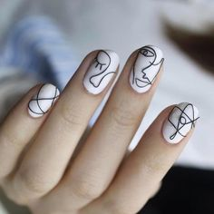 Picasso inspired nail art by @unistella_by_ek_lab #mcbeauty