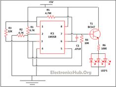LED Lamp Dimmer Circuit Diagram. Source Link: http://www.electronicshub.org/led-lamp-dimmer-circuit/