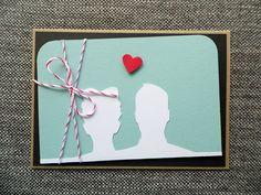 Hochzeitskarte A6 | Handgemacht von höchst originell auf DaWanda.com