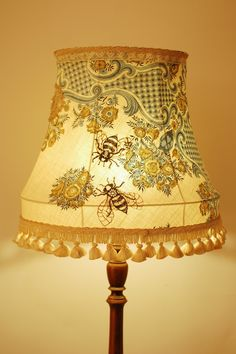 ≗ The Bee's Reverie ≗ Embroidered bee lampshade, by Nikki Rose, at Radiance Lightting