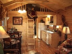 Inside a Small Log Cabins | Welcome to a new era in log cabin living!