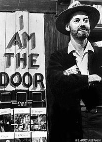 Lawrence Ferlinghetti is a Beat poet, artist and owner/publisher of City Lights Books He was the first Poet Laureate of San Francisco. in the basement of City Lights
