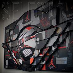 Select: The Wings Wall Sneaker art using Air Jordan boxes