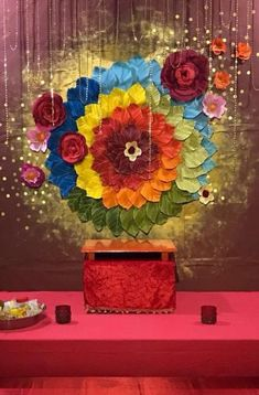 People always look for some Unique Diwali Ideas to decorate their homes. So, today we bring some innovative ideas which will make one fall in love with their home decoration. Find out these innovative ideas by Designerhomez. Wedding Stage Decorations, Diwali Decorations At Home, Marriage Decoration, Backdrop Decorations, Flower Decorations, Backdrops, Flower Decoration For Ganpati, Ganpati Decoration Design, Mandir Decoration